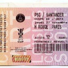 Coleccionismo deportivo: RACING DE SANTANDER PSG PARIS SAINT GERMAIN COPA DE LA UEFA 2008. Lote 120877767