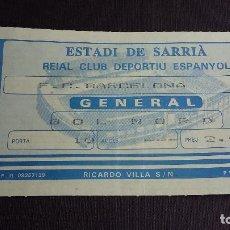 Coleccionismo deportivo: ENTRADA / TICKET ESTADI DE SARRIÀ / RCD. ESPANYOL VS FC. BARCELONA ( 29/01/89 ) - TEMPORADA 88/89 . Lote 121519227