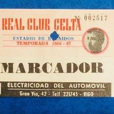Coleccionismo deportivo: ANTIGUA ENTRADA DE FÚTBOL. REAL CLUB CELTA DE VIGO. BALAIDOS. TEMPORADA 1966-1967. Lote 121864759