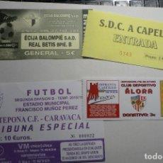 Coleccionismo deportivo: LOTE ENTRADAS FUTBOL. Lote 122145859