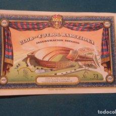 Coleccionismo deportivo: CLUB DE FÚTBOL BARCELONA - ENTRADA Nº 73 - INAUGURACIÓN ESTADIO - AÑO 1957. Lote 122190587