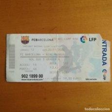 Coleccionismo deportivo: 2 ENTRADAS CONSECUTIVAS FUTBOL FC BARCELONA - REAL MADRID - TEMPORADA 2004-2005 - NOU CAMP - (3-0).. Lote 122217611