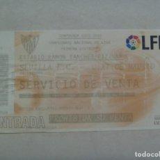 Coleccionismo deportivo: ENTRADA DE FUTBOL , SEVILLA F. C. , CAMPEONATO NACIONAL LFP 2005 / 06 : SEVILLA - AT. MADRID. Lote 122295407