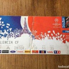 Coleccionismo deportivo: ENTRADA TICKET FINAL COPA EUROPA CHAMPIONS REAL MADRID VALENCIA 2000 PARIS. Lote 123340439