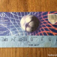 Coleccionismo deportivo: ENTRADA TICKET FINAL COPA EUROPA CHAMPIONS LEAGUE REAL MADRID BAYER LEVERKUSEN 2002 GLASGOW. Lote 123344251