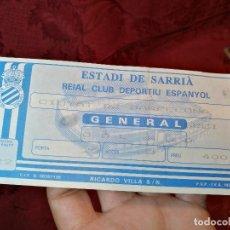 Coleccionismo deportivo: ENTRADA FUTBOL ESTADI DE SARRIA...ESPAÑOL ESPANYOL--CIUTAT DE BARCELONA . . Lote 123357935