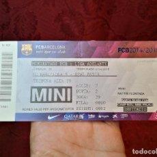 Coleccionismo deportivo: ENTRADA FUTBOL MINIESTADI FCB..LIGA ADELANTE...PARTIDO FC BARCELONA B--REAL BETIS . 2014-15. Lote 123361407