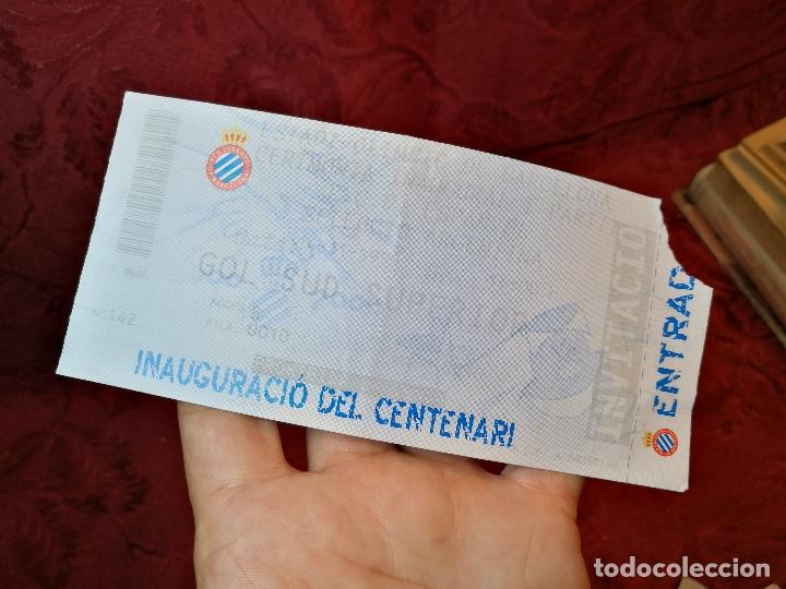ENTRADA ESTADI OLIMPIC BARCELONA CEREMONIA INAGURAL -PARTIDO ESPANYOL -SELECCIO ARGENTINA -1999- (Coleccionismo Deportivo - Documentos de Deportes - Entradas de Fútbol)