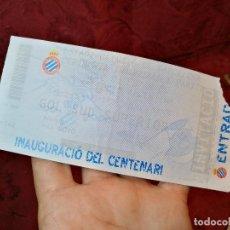Coleccionismo deportivo: ENTRADA ESTADI OLIMPIC BARCELONA CEREMONIA INAGURAL -PARTIDO ESPANYOL -SELECCIO ARGENTINA -1999-. Lote 123363891