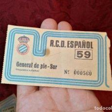 Coleccionismo deportivo: ENTRADA GENERAL ESTADIO SARRIÁ RCD ESPANYOL R.C.D ESPAÑOL. Lote 123365407