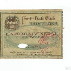 Coleccionismo deportivo: ENTRADA DEL FC BARCELONA - FOOT-BALL CLUB BARCELONA ( ORIGINAL ) 24 SEPTIEMBRE 1927. Lote 123416483