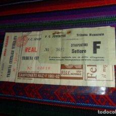 Coleccionismo deportivo: ENTRADA VII COPA DE EUROPA 1961 1962 F. C. JUVENTUS TURÍN REAL MADRID C. F. ESTADIO OLÍMPICO. RARA.. Lote 124412179