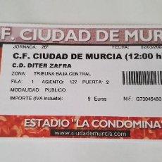 Coleccionismo deportivo: ENTRADA CIUDAD DE MUERCIA - DÍTER ZAFRA (02/03/2003) 2ª B. Lote 124416807