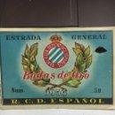 Coleccionismo deportivo: REAL CLUB DEPORTIVO ESPAÑOL. Lote 124526964
