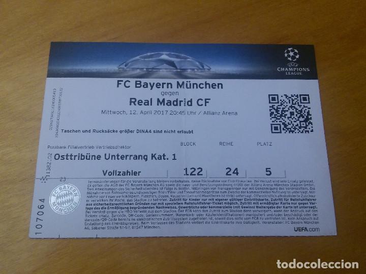entrada champions league- bayern munich 1 real - Kaufen Alte Fußball ...