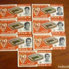 Coleccionismo deportivo: LOTE DE 7 ENTRADAS FILA 0 TERMINACION ESTADIO RAMON SANCHEZ PIZJUAN SEVILLA F.C . Lote 126723051