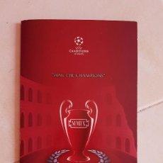 Coleccionismo deportivo: FC BARCELONA WELCOME PACK ENTRADA ORIGINAL FINAL ROMA ROME 2009 FIRMADA JUGADORES. Lote 128026039