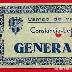 Coleccionismo deportivo: ENTRADA FUTBOL , LEVANTE CONSTANCIA DE INCA , CAMPO VALLEJO , ANTIGUA , ORIGINAL , EF3774. Lote 128456787