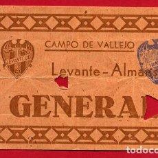 Coleccionismo deportivo: ENTRADA FUTBOL , LEVANTE ALMANSA , CAMPO VALLEJO , ANTIGUA , ORIGINAL , EF3778. Lote 128457535