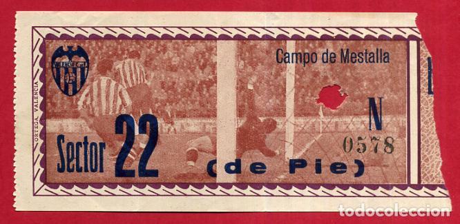 ENTRADA FUTBOL , VALENCIA CF , CAMPO MESTALLA , ANTIGUA , ORIGINAL , EF3786 (Coleccionismo Deportivo - Documentos de Deportes - Entradas de Fútbol)