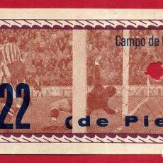 Coleccionismo deportivo: ENTRADA FUTBOL , VALENCIA CF , CAMPO MESTALLA , ANTIGUA , ORIGINAL , EF3786. Lote 128459723