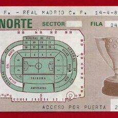 Coleccionismo deportivo: ENTRADA FUTBOL, VALENCIA CF REAL MADRID 1985 ,ORIGINAL , EF3801. Lote 128465635