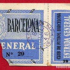 Coleccionismo deportivo: ENTRADA FUTBOL, BARCELONA 8 JUNIO 1946 , ANTIGUA ,ORIGINAL , EF3809. Lote 128466731