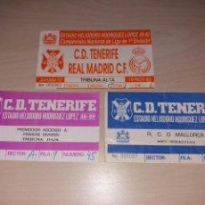 Coleccionismo deportivo: LOTE ENTRADAS CD TENERIFE. Lote 129392043