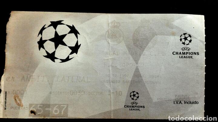 ENTRADA CHAMPIONS REAL MADRID OPORTO 1997 (Coleccionismo Deportivo - Documentos de Deportes - Entradas de Fútbol)