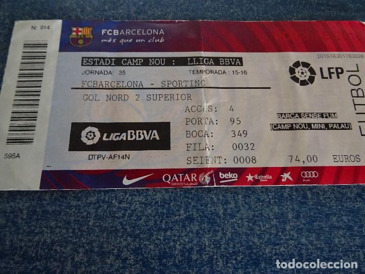 entrada fc barcelona- sporting 15-16 - Comprar Entradas de Fútbol ... 60ef5303fb997