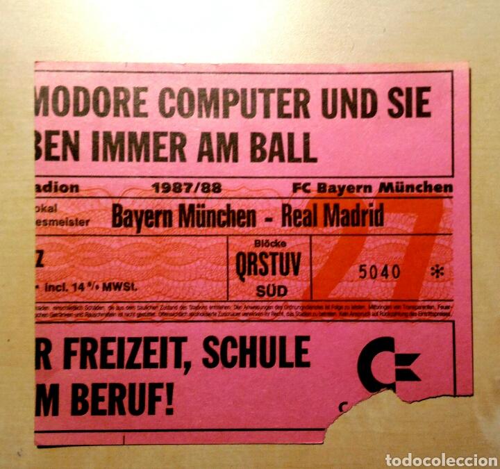 ENTRADA BAYERN MUNICH REAL MADRID 1987 - 1988 (Coleccionismo Deportivo - Documentos de Deportes - Entradas de Fútbol)