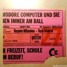 Coleccionismo deportivo: ENTRADA BAYERN MUNICH REAL MADRID 1987 - 1988. Lote 134836554