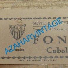 Coleccionismo deportivo: AÑOS 70, ENTRADA PARTIDO COPA S.E. EL GENERALISIMO, SEVILLA ATLETICO-C.D.MIRANDES. Lote 135153090