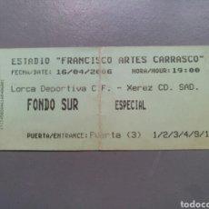 Coleccionismo deportivo: ENTRADA FUTBOL LORCA XEREZ AÑO 2006 FUTBOL. Lote 135226385