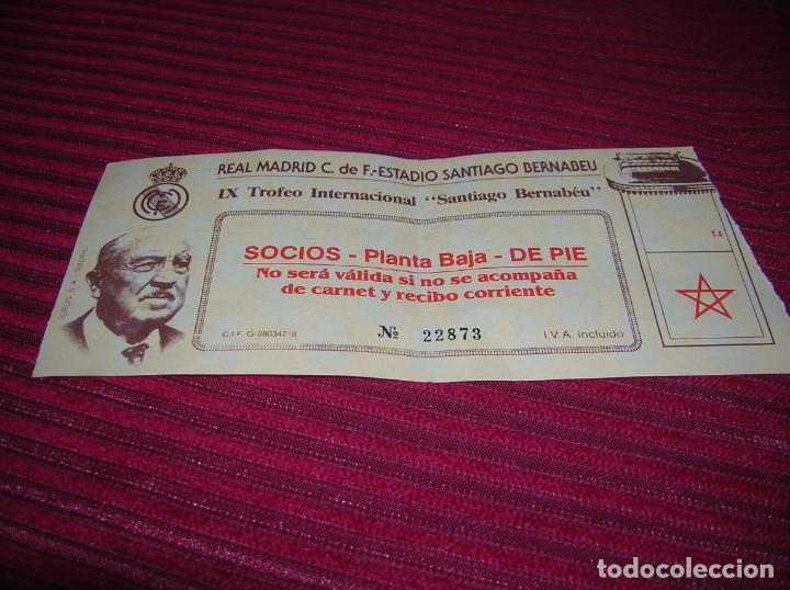 ENTRADA REAL MADRID.IX TROFEO INTERNACIONAL .SANTIAGO BERNABEU (Coleccionismo Deportivo - Documentos de Deportes - Entradas de Fútbol)