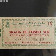 Coleccionismo deportivo: ENTRADA REAL MADRID - VALENCIA. Lote 136287205