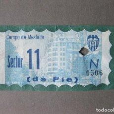 Coleccionismo deportivo: ENTRADA DEL CAMPO DE MESTALLA - VALENCIA CLUB DE FUTBOL - PUBLICIDAD BANCO RURAL. Lote 136366914