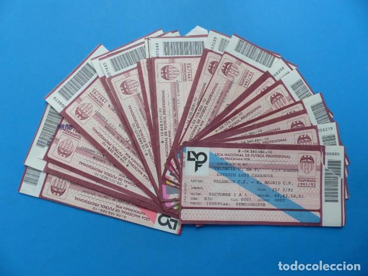24 ENTRADAS FUTBOL - VALENCIA C.F. - LIGA NACIONAL - TEMPORADA 1991-1992 (Coleccionismo Deportivo - Documentos de Deportes - Entradas de Fútbol)