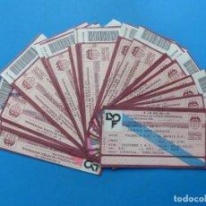 Coleccionismo deportivo: 24 ENTRADAS FUTBOL - VALENCIA C.F. - LIGA NACIONAL - TEMPORADA 1991-1992. Lote 136730794