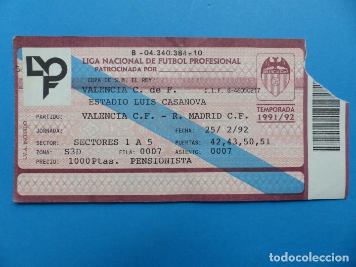 Coleccionismo deportivo: 24 ENTRADAS FUTBOL - VALENCIA C.F. - LIGA NACIONAL - TEMPORADA 1991-1992 - Foto 2 - 136730794