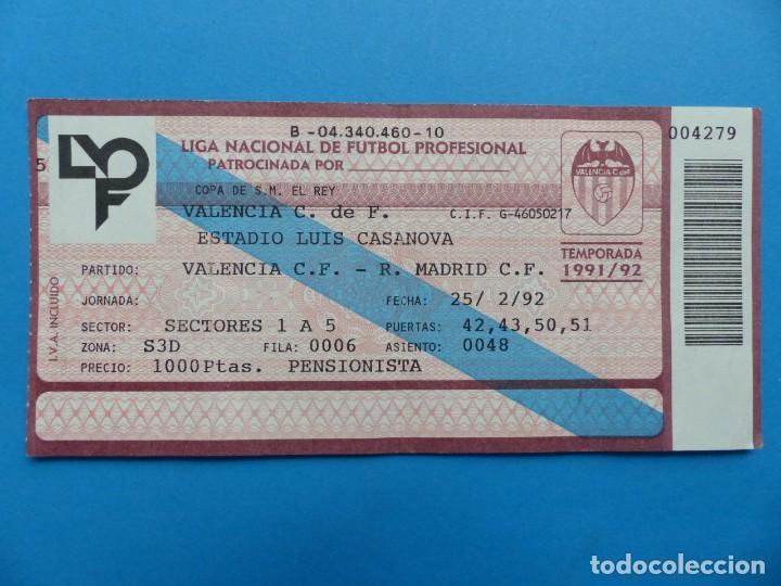 Coleccionismo deportivo: 24 ENTRADAS FUTBOL - VALENCIA C.F. - LIGA NACIONAL - TEMPORADA 1991-1992 - Foto 8 - 136730794