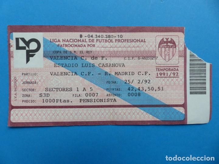 Coleccionismo deportivo: 24 ENTRADAS FUTBOL - VALENCIA C.F. - LIGA NACIONAL - TEMPORADA 1991-1992 - Foto 10 - 136730794