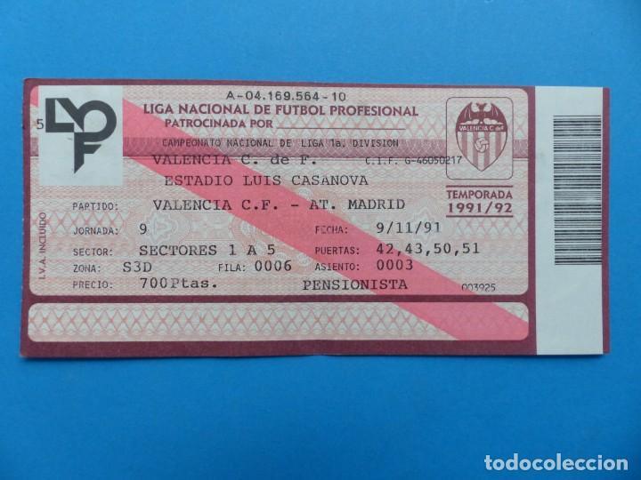 Coleccionismo deportivo: 24 ENTRADAS FUTBOL - VALENCIA C.F. - LIGA NACIONAL - TEMPORADA 1991-1992 - Foto 20 - 136730794