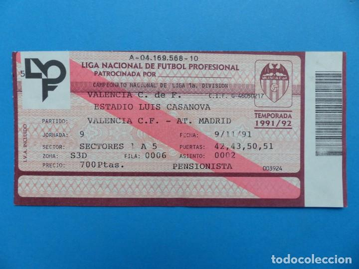 Coleccionismo deportivo: 24 ENTRADAS FUTBOL - VALENCIA C.F. - LIGA NACIONAL - TEMPORADA 1991-1992 - Foto 48 - 136730794