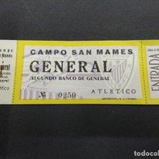 Coleccionismo deportivo: ANTIGUA ENTRADA ATHLETIC DE BILBAO 1946 CAMPO SAN MAMES CONTRA REAL MADRID ORIGINAL. Lote 139085362