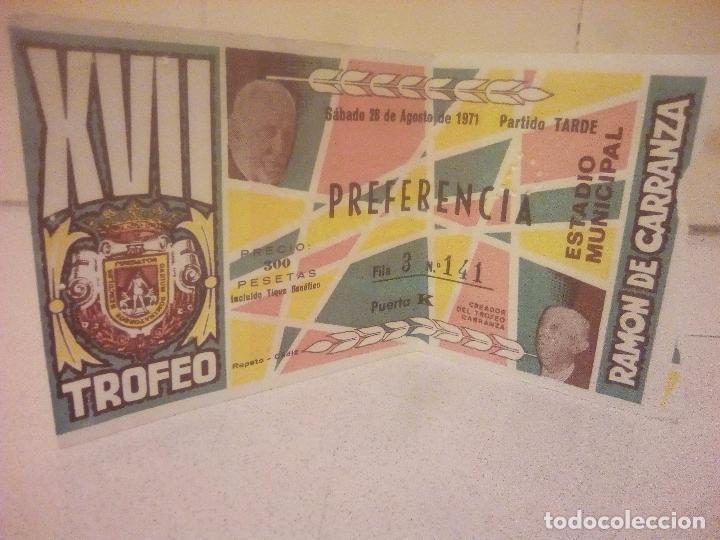 ENTRADA DE FUTBOL (Coleccionismo Deportivo - Documentos de Deportes - Entradas de Fútbol)