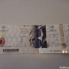 Coleccionismo deportivo: AC MILAN - FC BARCELONA ENTRADA FÚTBOL UEFA CHAMPIONS LEAGUE 20/10/2004 LIGA DE CAMPEONES. Lote 140119108