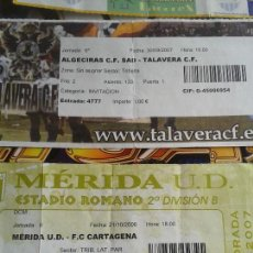 Coleccionismo deportivo: ENTRADA MERIDA CARTAGENA 2 B 2006- 2007 - FUTBOL. Lote 140452242