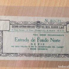 Coleccionismo deportivo: ENTRADA TICKET IV COPA EUROPA. 4º FINAL. REAL MADRID VS WIENER S.C.. 18/3/1959. Lote 140459330