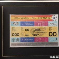 Coleccionismo deportivo: ENTRADA TICKET MUNDIAL ESPAÑA 82. PARTIDO INAUGURAL. EDICION COLECCIONISTA. Lote 140536202